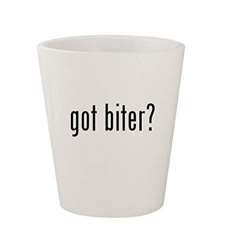 (got biter? - Ceramic White 1.5oz Shot Glass)