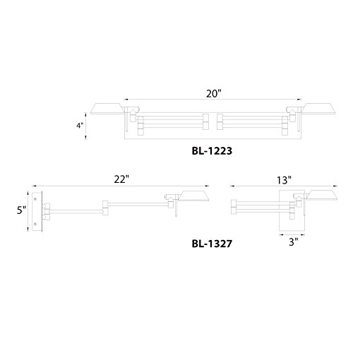 WAC Lighting BL-1327-CH Cue Led Swing Arm Double Headed