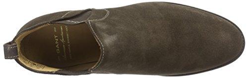 GANT Avery - botines chelsea de cuero mujer marrón - Braun (dark brown  G46)