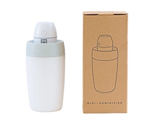 USB Humidifier - Portable Mini Humidifier, Car Humidifier - Skin Care / Respiratory Health / Cool Mist Air Gentle and Safe for Baby and Asthma Sufferers (White) ()