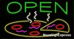Pizza LED Sign Open