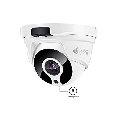 POE IP Camera,Kingkonghome 1080P Home Security Surveillance Camera with Sound, IR Night Vision, Remote Viewing,IP67 Waterproof Dome Camera for Outdoor and Indoor,Support Onvif from Kingkonghome