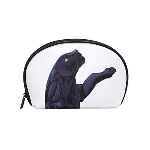 Makeup Cosmetic Bag Art Cool Animal Black Panther with -