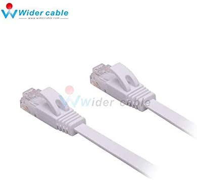 Cables Black High Speed Noodle Cat6 Ethernet Flat Cable Ultra Thin Design RJ45 Computer LAN Internet Network Cord 0.3m Cable Length: 15m, Color: Black