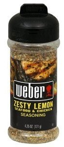 Weber Seasoning, Zesty Lemon, 5 Ounce (Pack of 2)
