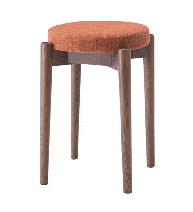 スツール スタッキングスツール ラウンドスツール 丸型いす 高さ44cm 腰掛椅子 いす 積み重ね収納 布地 布張り ブラウン B01N2TR9Y2 ブラウン ブラウン
