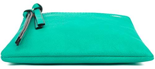 Teal Narrow Multi Crossbody DELUXITY Essential Pocket Casual Bag f110qA