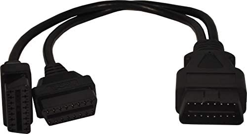 30 Centimeters Mo-Co-So Heavy Duty OBD II 16 Pin Splitter Y Cable 12 inches