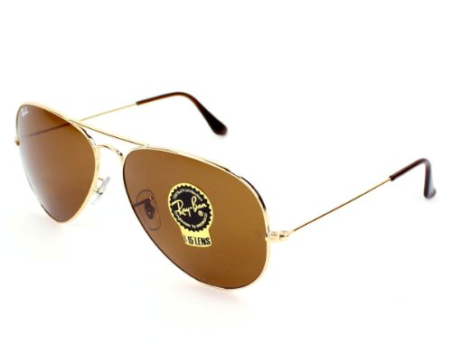 picture of Ray-Ban Ray Ban Sunglasses RB 3025 RB3025 001/33 Metal Gold Brown