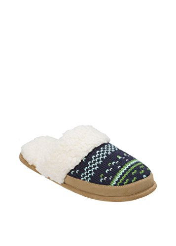 Dearfoams Patterned Knit Closed Toe Scuff with FREE GIFT Peacoat NAojlQrfT5