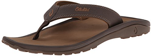 (OLUKAI Men's Ohana, Dark Java/Ray, 12 D-Medium)