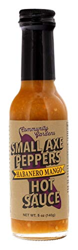Small Axe Peppers Habanero Mango Hot Sauce, 5 oz- All Natural, Vegan, Made in the USA, non-GMO, Community Garden Grown, Featured on Hot Ones!