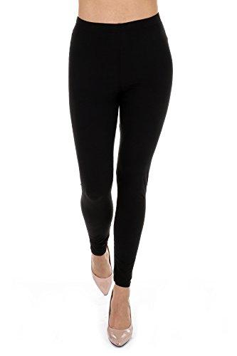 Super Soft Women's Premium Ankle Length Basic Leggings (Onesize, Black)