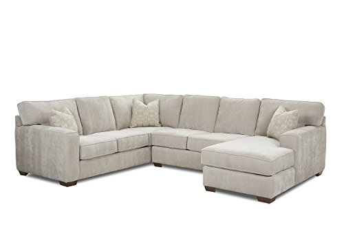 Klaussner Webster Sectional, Dove