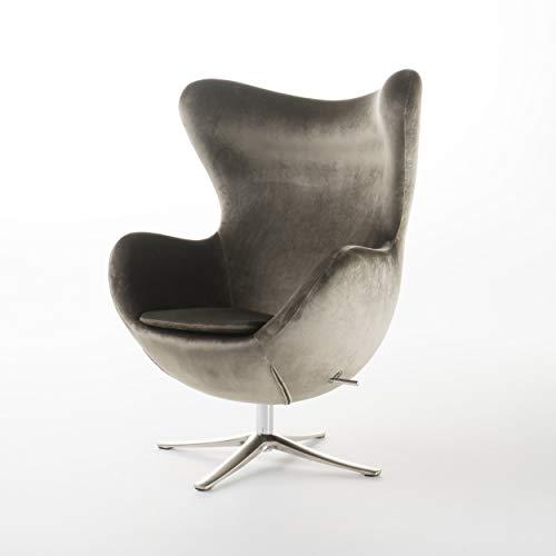 Christopher Knight Home 300700 Gadot Grey New Velvet Modern Swivel Chair,