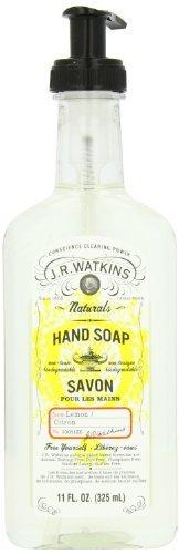 J.R. Watkins Liquid Hand Soap, Lemon, 11-Ounce Bottles (Pack of 3)