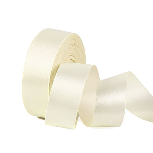 Ivory Wired Satin Ribbon - Double Face Satin Ribbon 1