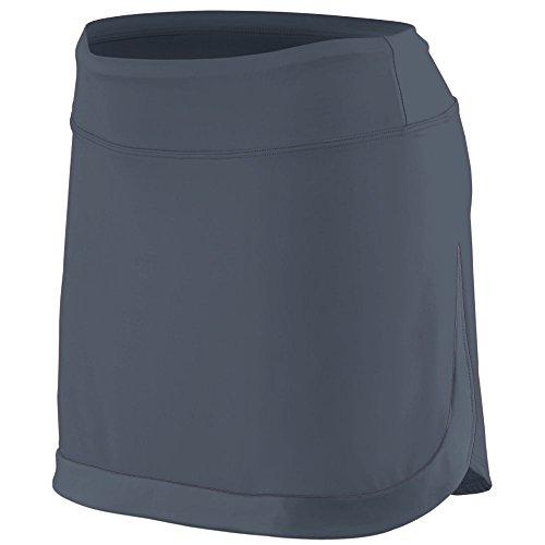 (Augusta Sportswear Girls' Action Color Block Skort S Graphite/Graphite)