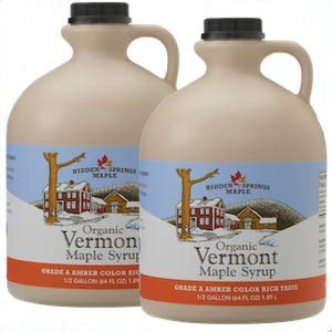 Hidden Springs Organic Vermont Maple Syrup - Amber Rich, Gallon