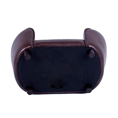 FixtureDisplays Contemporary Chocolate Brown PU Leather Dog Sofa Bed Couch Chaise Cat Seat 12198 12198