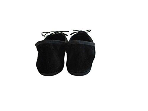 SilferShoes donna In Italy donna made Nero scarpa Colore Ballerina In scamosciata pelle gq1Yndw