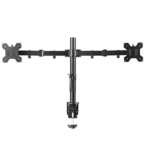 Tilt Lcd Adjustable Display (Suptek Fully Adjustable Dual Arm LCD LED Monitor Desk Mount Stand Bracket for 13