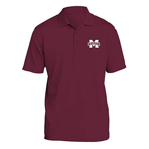 UGP Campus Apparel AP07 - Mississippi State Bulldogs Primary Logo LC Polo - 2X-Large - Maroon ()