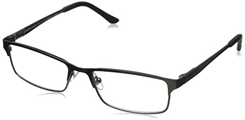(Foster Grant Men's Samson 1015715-150.COM Rectangular Readers, Satin Dark Gunmetal, 52 mm)