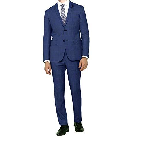 PUNTO-SHOPPING Abito Uomo Sartoriale Classico Drop 6 Blu Principe di Galles della Nuova Collezione TG.50