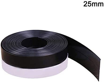 Suppyfly Blanco 1 MT de Silicona para Puertas y Ventanas 25 mm 1 Pieza de Tiras Autoadhesivas de Sellado