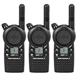 3 Pack of Motorola CLS1110 Two Way Radio Walkie Talkies (UHF)