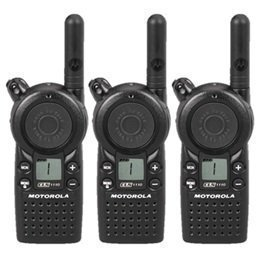 3 Pack of Motorola CLS1110 Two Way Radio Walkie Talkies (UHF) by Motorola