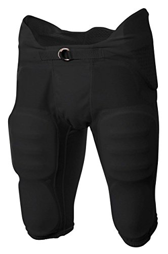 A4 Boy's Flyless Integrated Football Pant Black ()