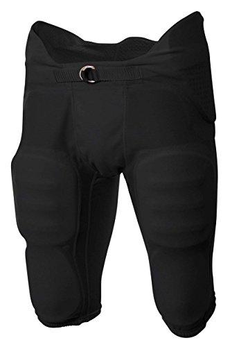 egrated Football Pant, XL, Black ()