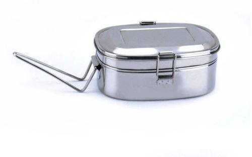 AA Stainless Steel Bento Box Food Container Storage Lunch Box (Nickelodeon Victorious Items)