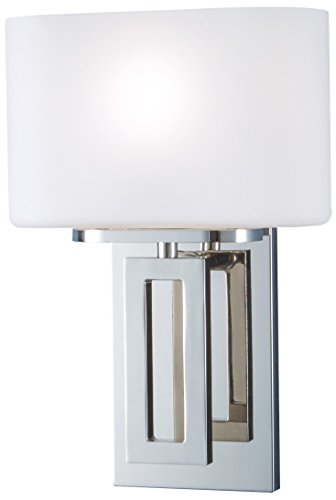 NORWELL 5164-PN-MO Hamilton Sconce, Polish Nickel (Norwell Nickel Sconce)