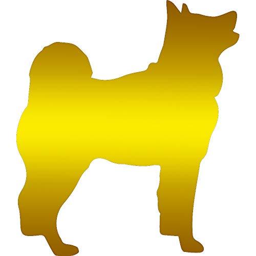 - NBFU DECALS Animal Akita Dog (Metallic Gold) (Set of 2) Premium Waterproof Vinyl Decal Stickers for Laptop Phone Accessory Helmet CAR Window Bumper Mug Tuber Cup Door Wall Decoration