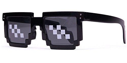 Borang Deal With It Glasses - Thug Life Pixelated Sunglasses 8-Bit Style MLG - Shades 8bit