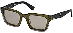 Sunglasses Diesel DL 0231 95Q Light Green/other / Green Mirror