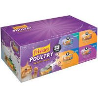 Friskies Poultry Variety Pack Canned Cat Food 32 – 5.5oz Cans For Sale