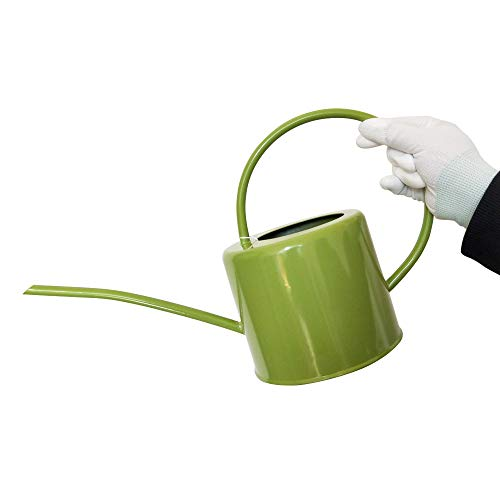 Calunce Rustic Retro Textured Gardening Tools Long spout Watering can(Green) (Green Metal Watering Can)