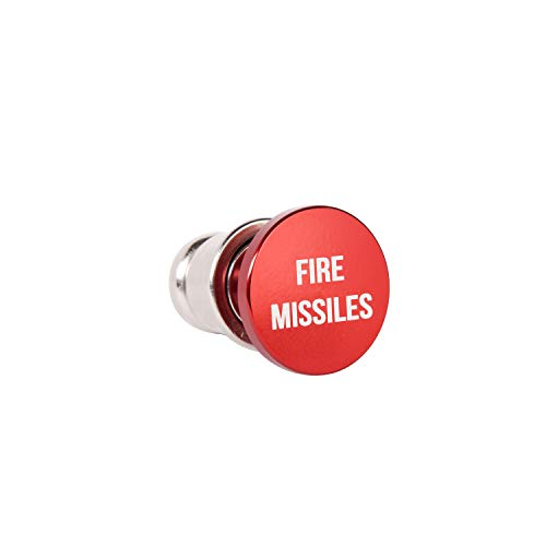 OMNI Factory Fire Missiles Button Car Cigarette Lighter Anodized Aluminum 12-Volt Replacement Accessory Fits Most Vehicles