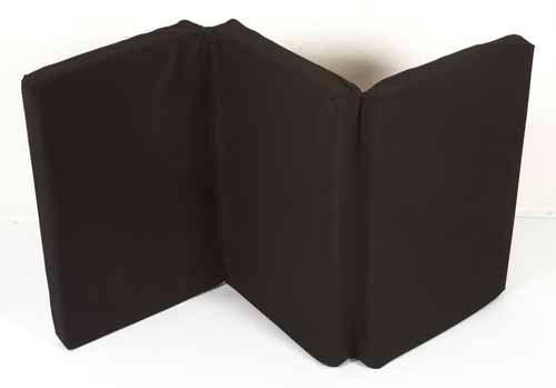 120 x 60 cm Microfiber schwarz Nattou Reisebettmatratze 10705
