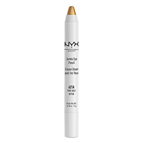 NYX PROFESSIONAL MAKEUP Jumbo Eye Pencil, Pure Gold, 0.18 Ounce