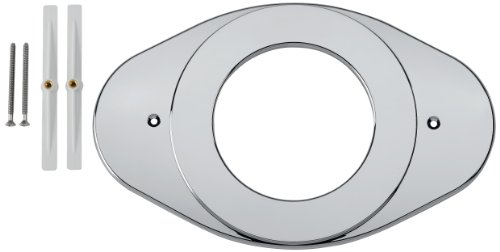 Remodel Cover Plate - Delta Faucet RP29827 Shower Renovation Cover Plate, Chrome