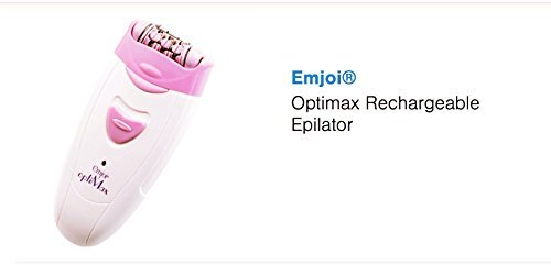 Optimax Rechargeable Epilator 30 Tweezers Mounted on Dual-Opposed Heads Remove Hair Quickly and Effectively by Emjoi