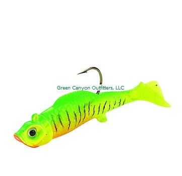 Northland Mimic Minnow Shad-Pack of 6 (1/8-Ounce, Green) - Northland Mimic Minnow