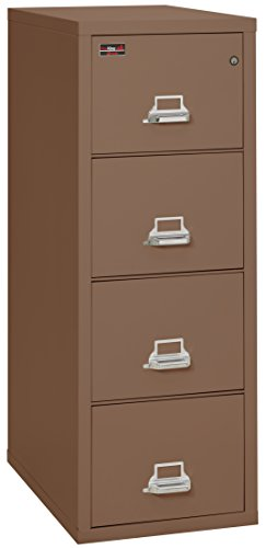 FireKing Fireproof 2 Hour Rated Vertical File Cabinet (4 Legal Sized Drawers, Impact Resistant, Water Resistant), 57