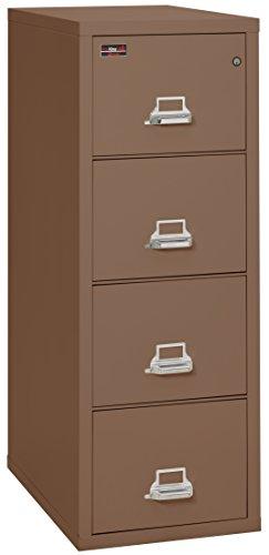 Drawer 2 Steel Tan Vertical - FireKing Fireproof 2 Hour Rated Vertical File Cabinet (4 Legal Sized Drawers, Impact Resistant, Waterproof), 57
