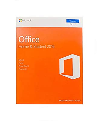 Office 2016 Home and Student English - New - 1 PC - Box - KeyCard - Word Excel PowerPoint OneNote - Office Home and Student 2016 for Windows 7 / 8 / 8.1 / 10